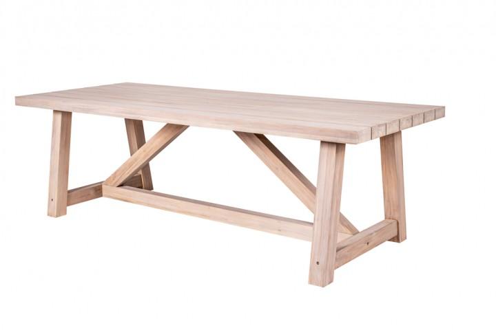 Have&Stol Marten Tisch Holz 250x100x78 cm Teak/weiß gewischt