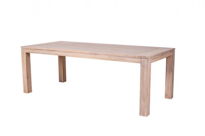 Have&Stol Andri Tisch Holz 220x100x78 cm Teak/weiß gewischt
