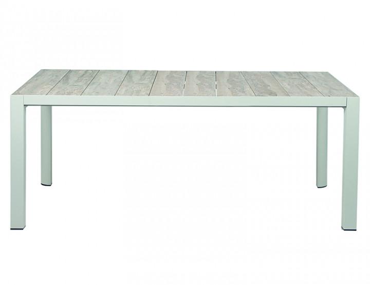 AKS MIlton Diningtisch Aluminium matt weiß-grau