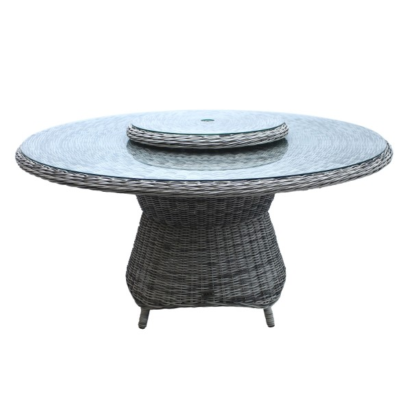 AKS Broadway Diningtisch Polyrattan/Kunstoffgeflecht grey shell