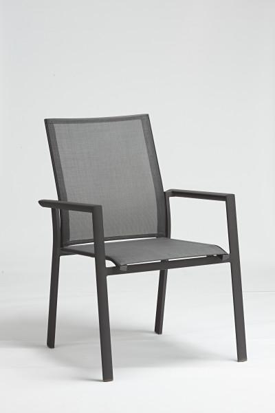 AKS Regina Diningsessel Aluminium schwarz