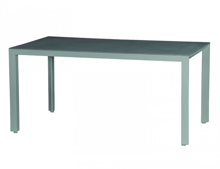 AKS Mansal Diningtisch Aluminium matt graphit, 160x90 cm