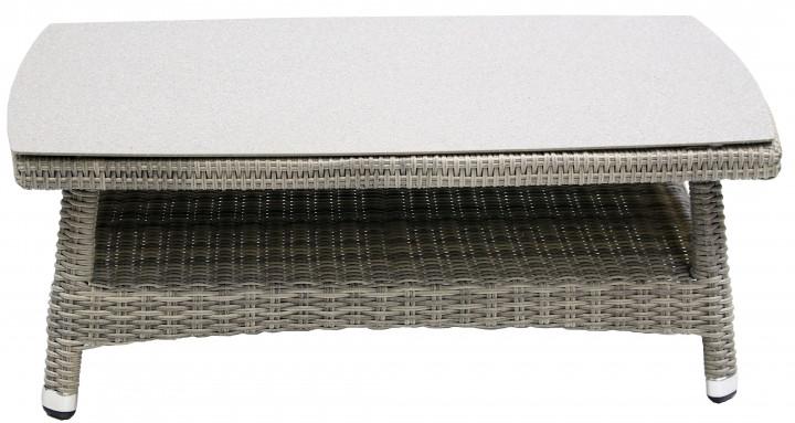 AKS Cleveland Kaffeetisch Polyrattan/Kunstoffgeflecht grau