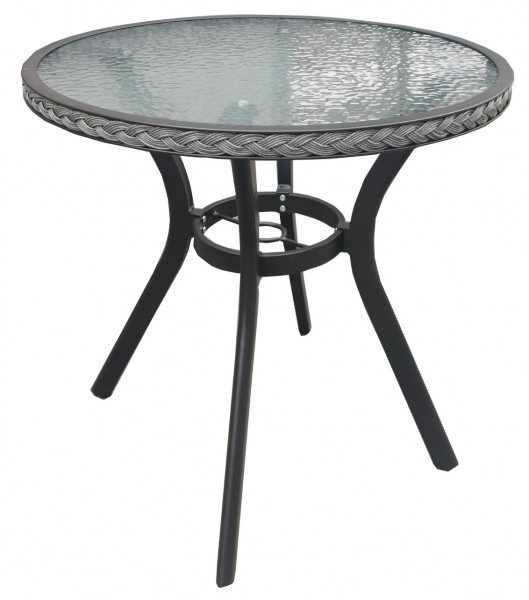 AKS Gomera Bistrotisch Polyrattan/Kunstoffgeflecht greywood
