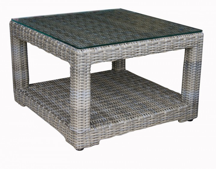 Gartenmobel Klappstuhl Plastik : AKS Barcelona Tisch 75x75x48 cm Geflecht H657S  Tische  Gartenmöbel
