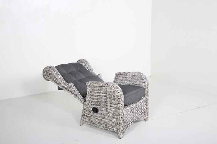 Lounge Sessel Weiß Grau ~ AKS Broadway Loungesessel 80x90x108 cm weiß, grau  Sessel & Stühle