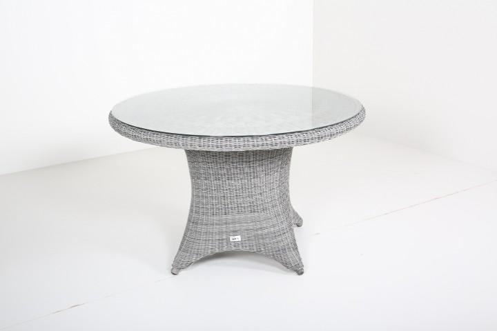 Gartenmobel Outlet Genderkingen Offnungszeiten : AKS Havanna Tisch mit Glasplatte 120×75 cm Geflecht charcoal grau