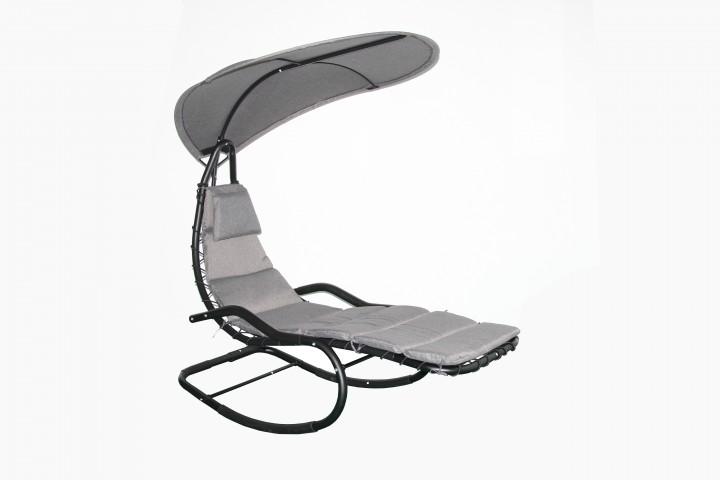 AKS Manoa Loungestuhl 190x100x200 cm grau/schwarz